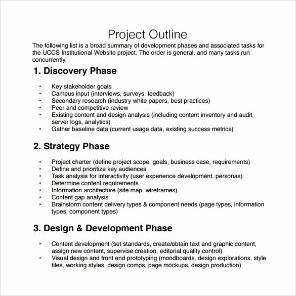 Project Outline Template Word Best Of Free 9 Sample Project Outline Templates In Pdf Word