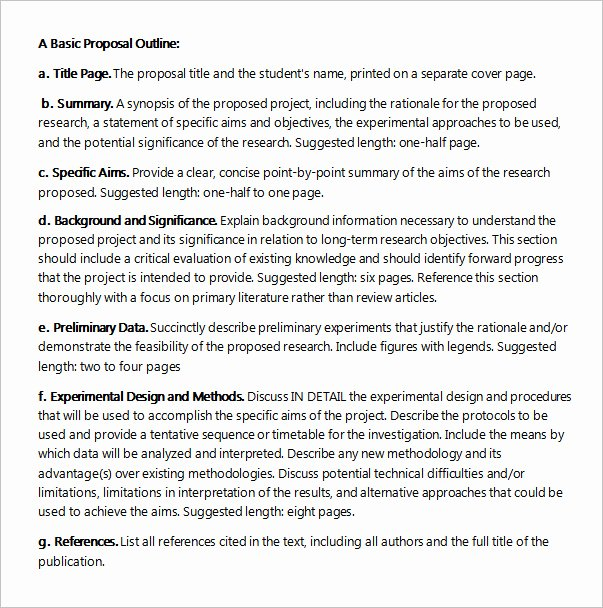 Project Outline Template Word Best Of Sample Project Proposal Template 9 Free Documents In