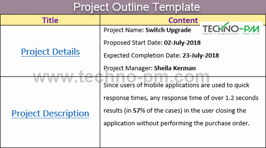 Project Outline Template Word Elegant Project Outline Template Word with An Example Project