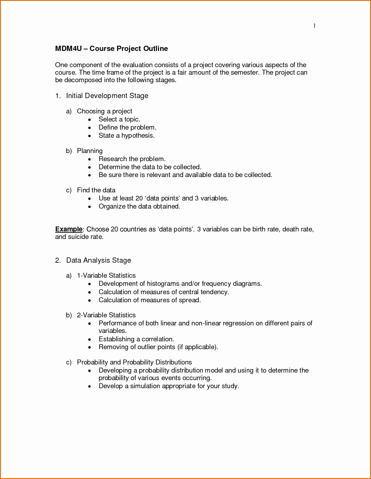 Project Outline Template Word Fresh 4 Project Outline Template