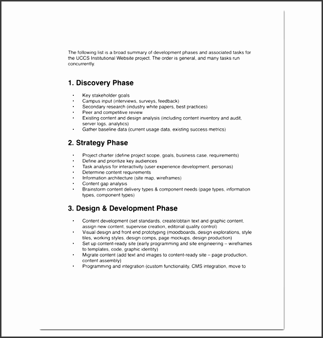 Project Outline Template Word Inspirational 5 Project Outline Template In Word Sampletemplatess