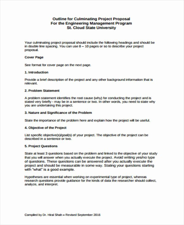 Project Outline Template Word New 12 Project Proposal Outline Templates Pdf Word