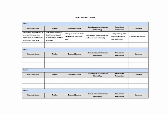 Project Plan Template Word Lovely Work Plan Template 12 Free Word Pdf Documents Download