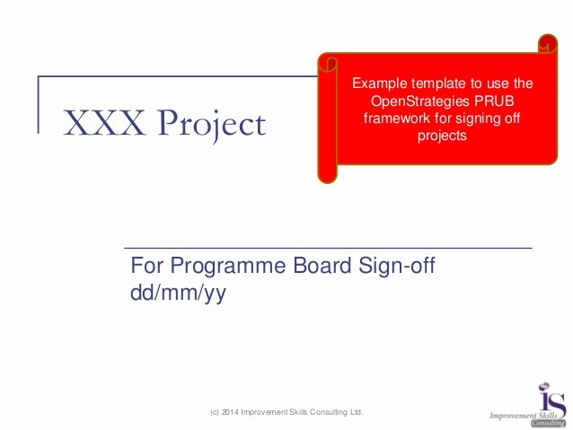 Project Sign Off Template Fresh Openstrategies Prub Thinking A Framework to Sign Off