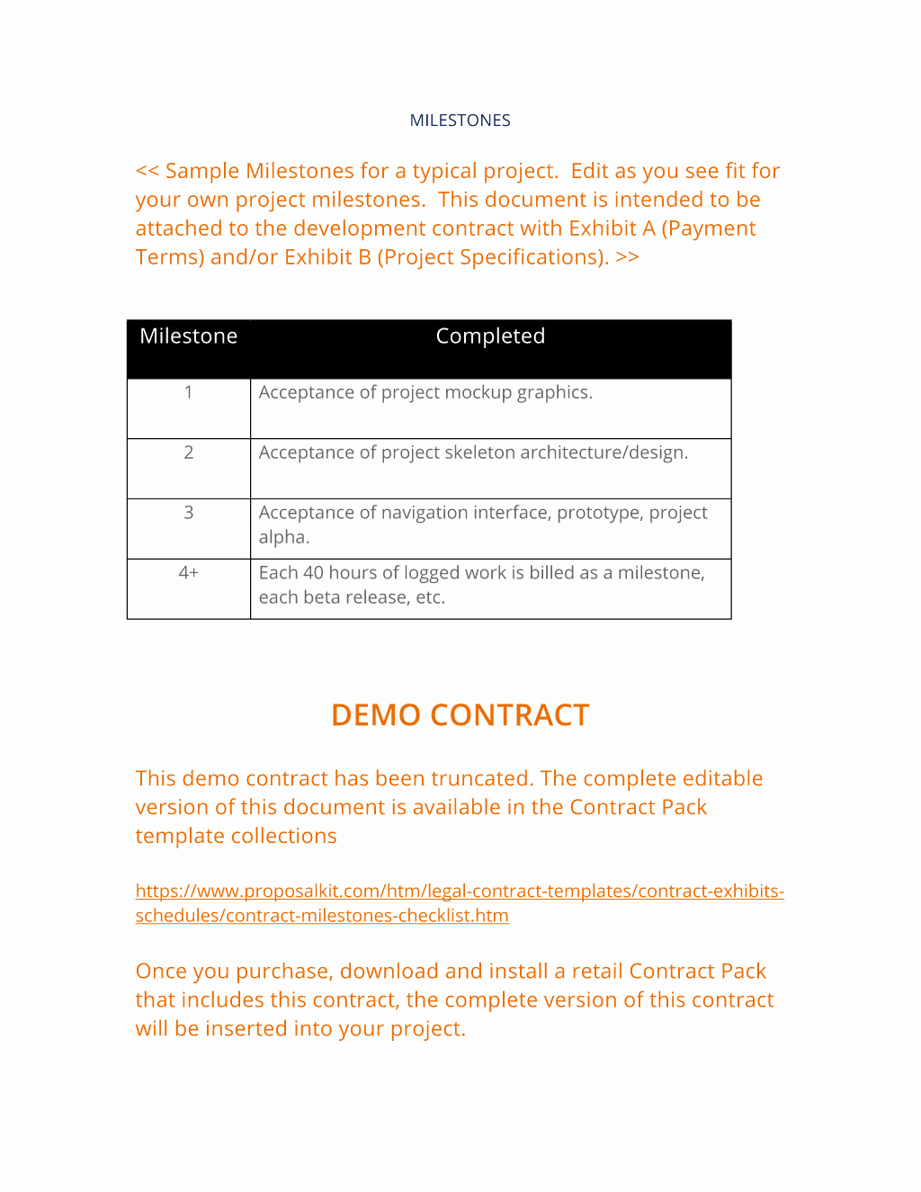 Project Sign Off Template Inspirational How to Write Your Own Contract Milestones Checklist