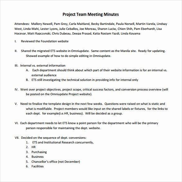 Project Sign Off Template Unique Project Meeting Minutes Template 9 Download Free