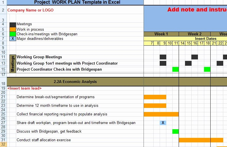Project Work Plan Template Awesome Project Work Plan Template In Excel Xls