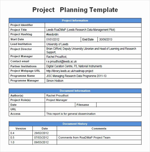 Project Work Plan Template Beautiful Project Planning Template 5 Free Download for Word
