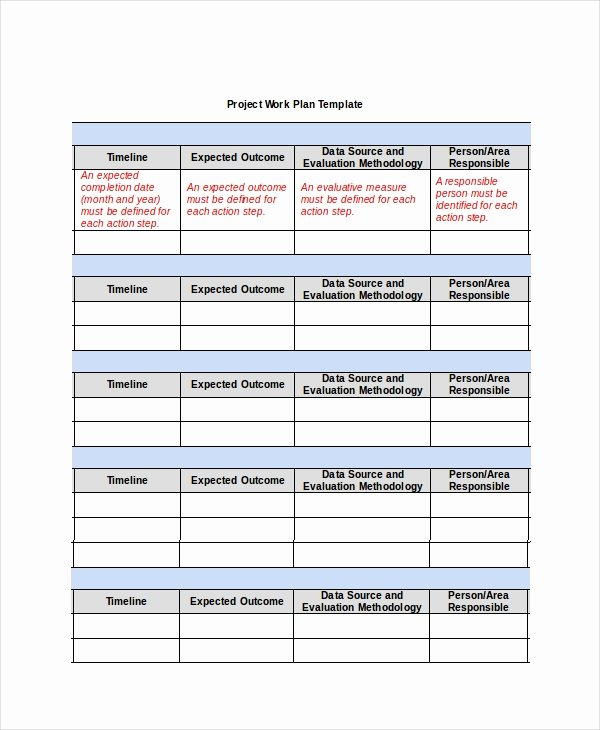 Project Work Plan Template Fresh Project Plan Template 12 Free Word Psd Pdf Documents