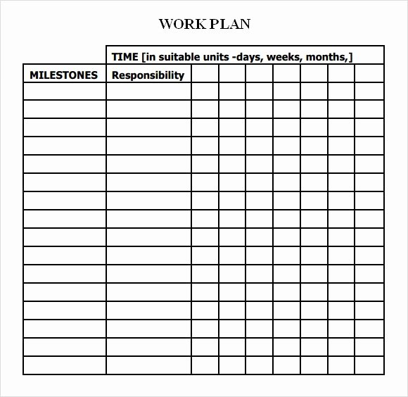 Project Work Plan Template Inspirational 23 Sample Work Plan Templates In Google Docs
