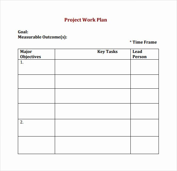 Project Work Plan Template Luxury 23 Sample Work Plan Templates In Google Docs