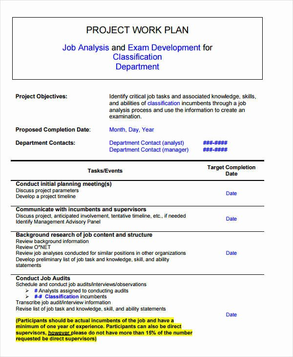 Project Work Plan Template Unique 11 Project Plan Samples & Templates Pdf Docs Word