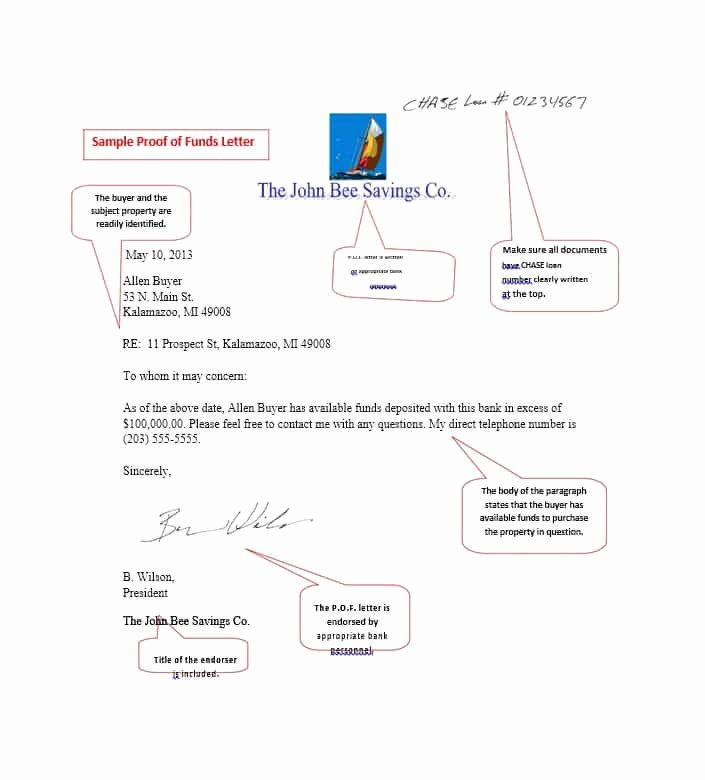 Proof Of Funds Letter Template Awesome 25 Best Proof Of Funds Letter Templates Template Lab
