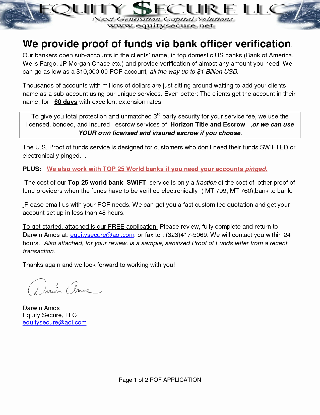 Proof Of Funds Letter Template Elegant Best S Of Verification Funds Letter Employment