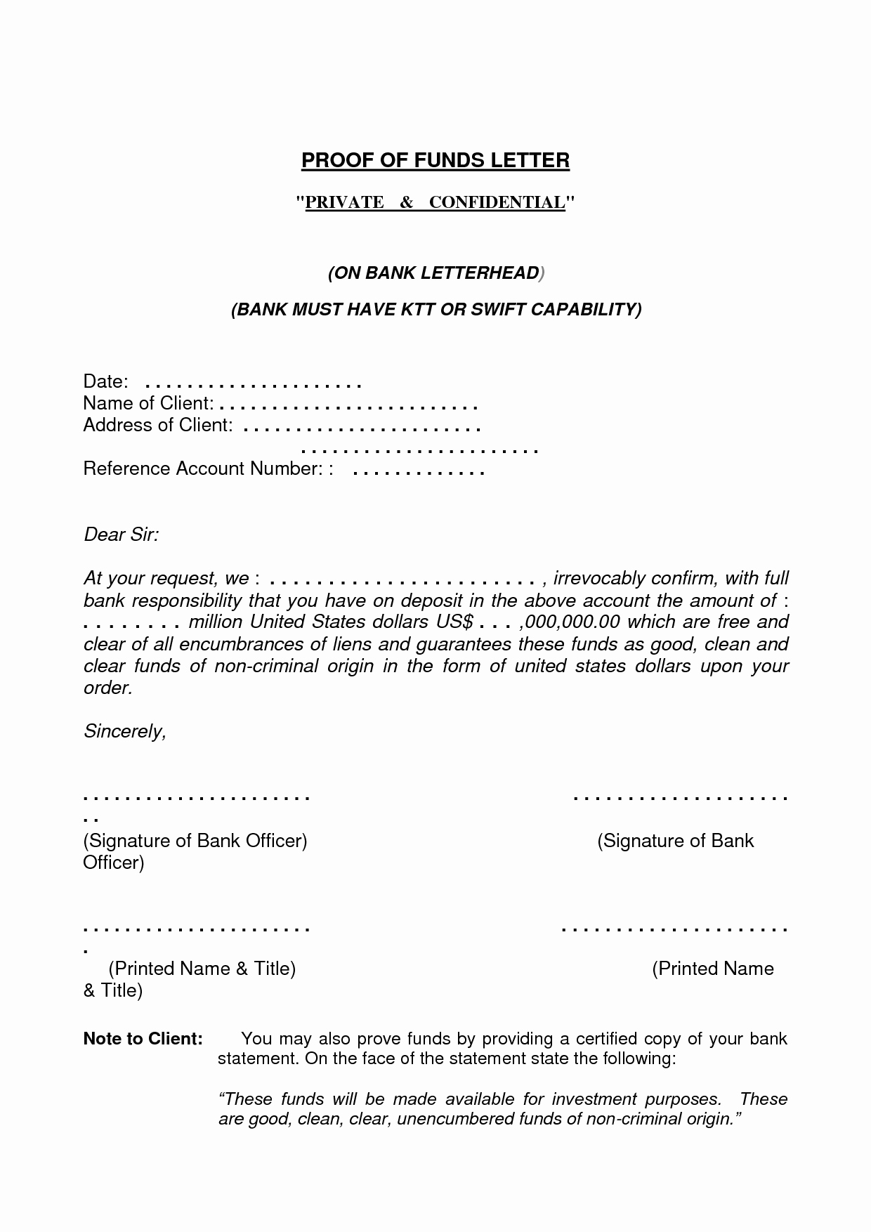 Proof Of Funds Letter Template New Best S Of Proof Funds Letter Template Proof Of
