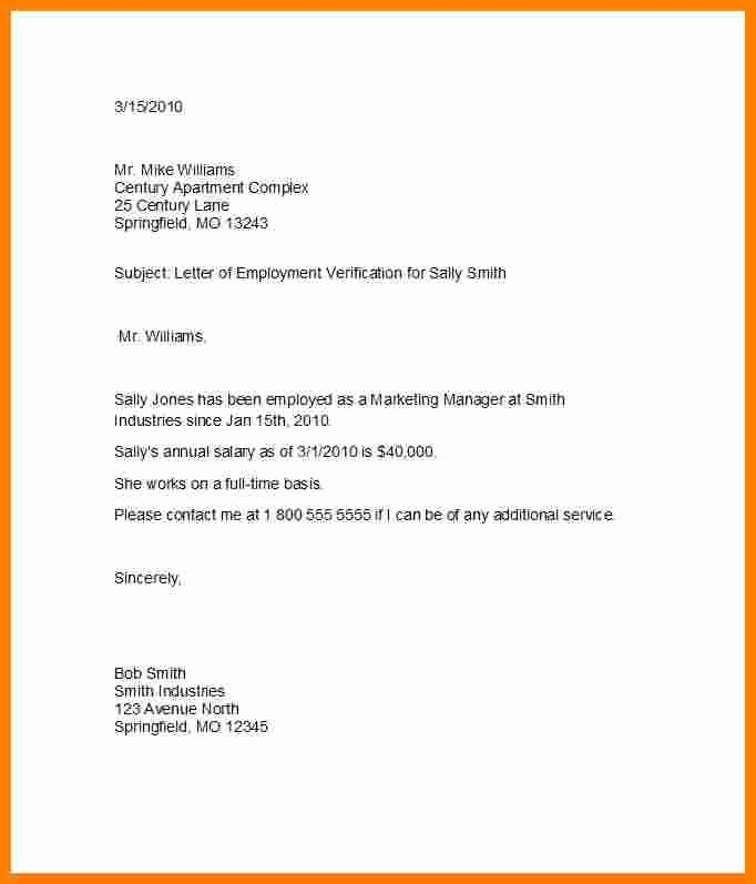 Proof Of Income Template Fresh Proof In E Letter From Employer
