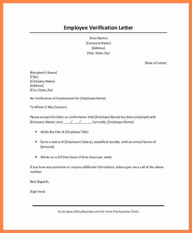 Proof Of Income Template Lovely 10 Employer Salary Verification Letter