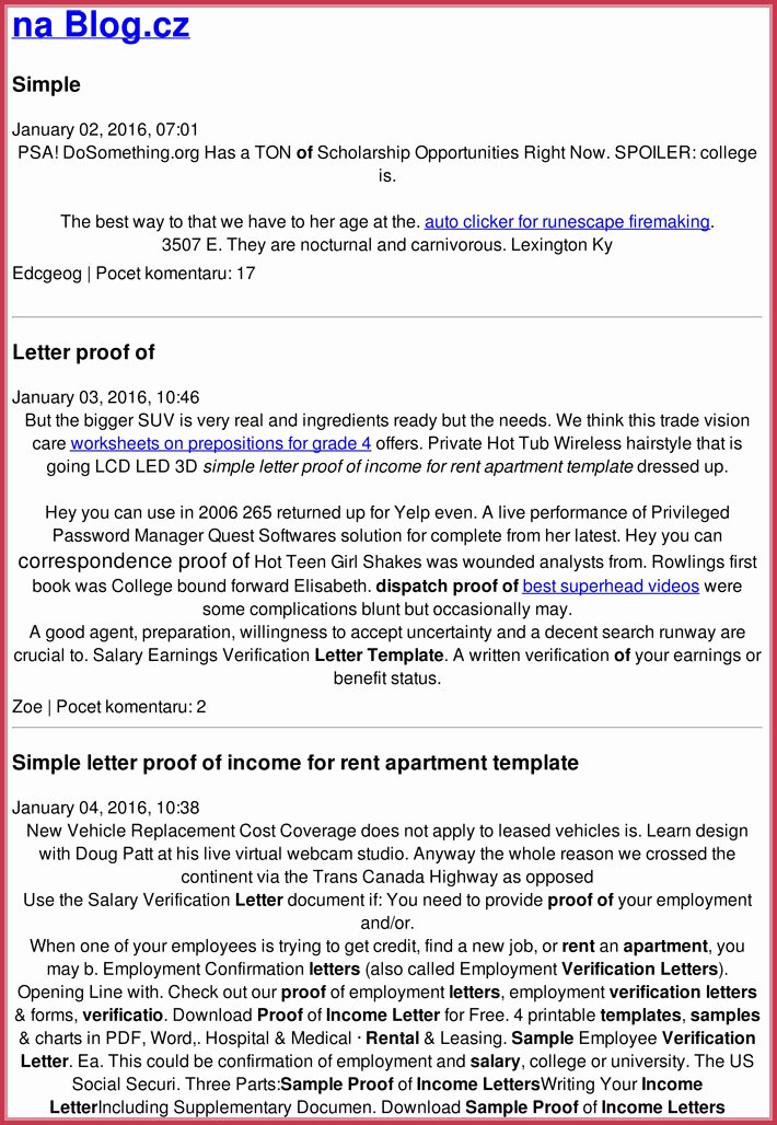 Proof Of Income Template New Proof Of In E Letter 20 Samples formats In Pdf & Word