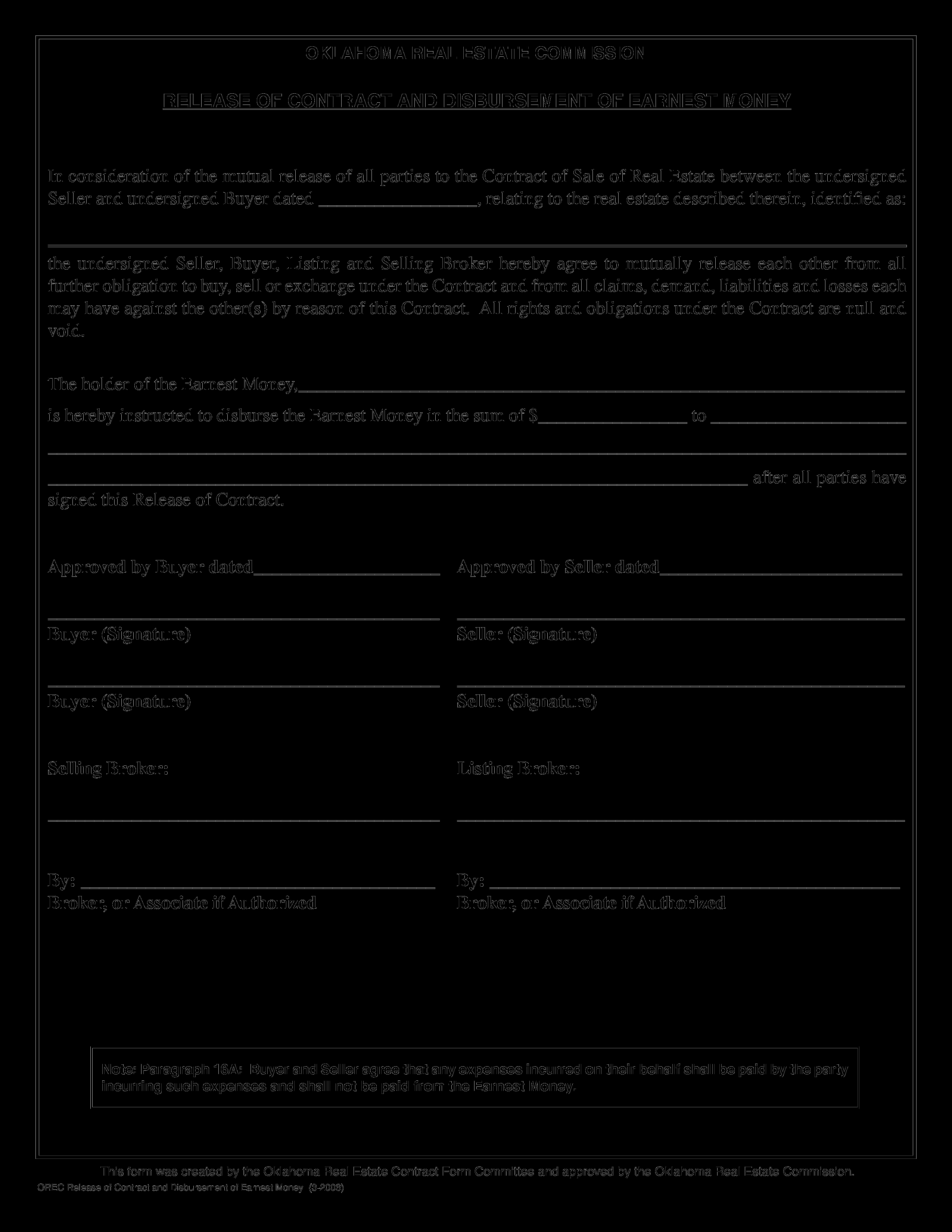 Property Release form Template Beautiful Real Estate Contract Release form