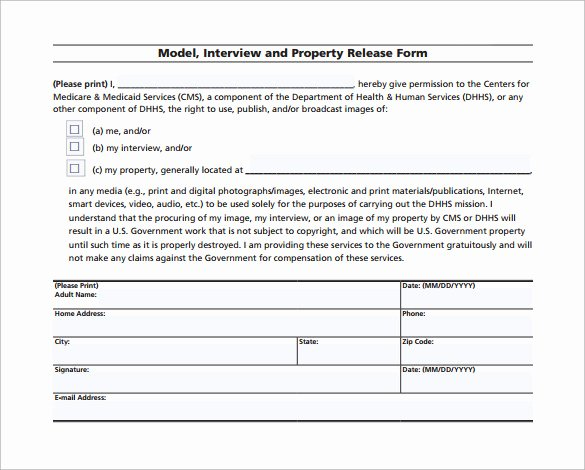 Property Release form Template Best Of Sample Property Release form 14 Download Free Documents