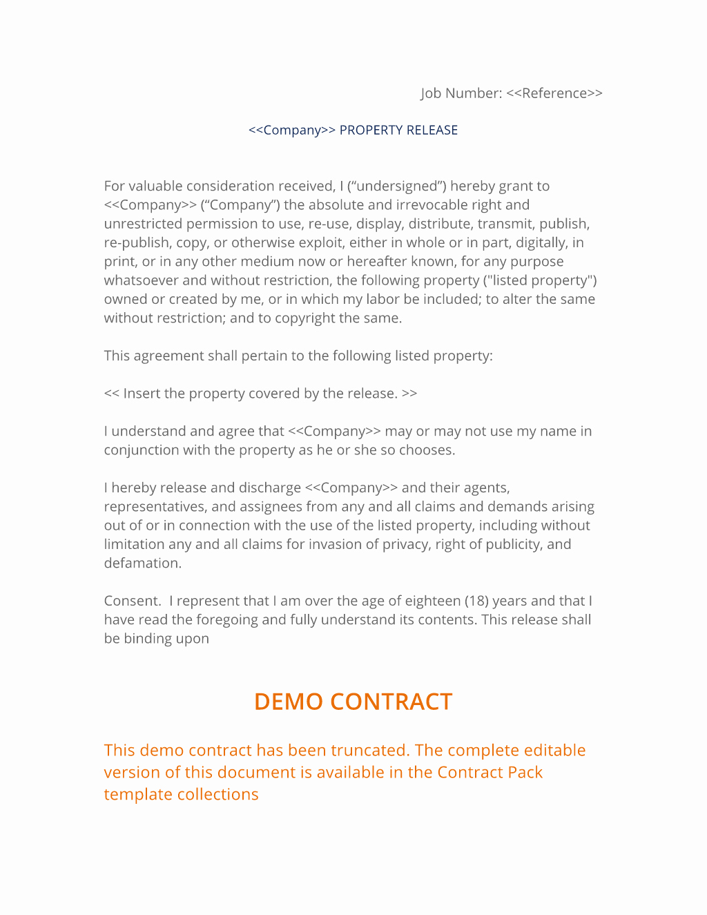 Property Release form Template Elegant Property Release Agreement 3 Easy Steps