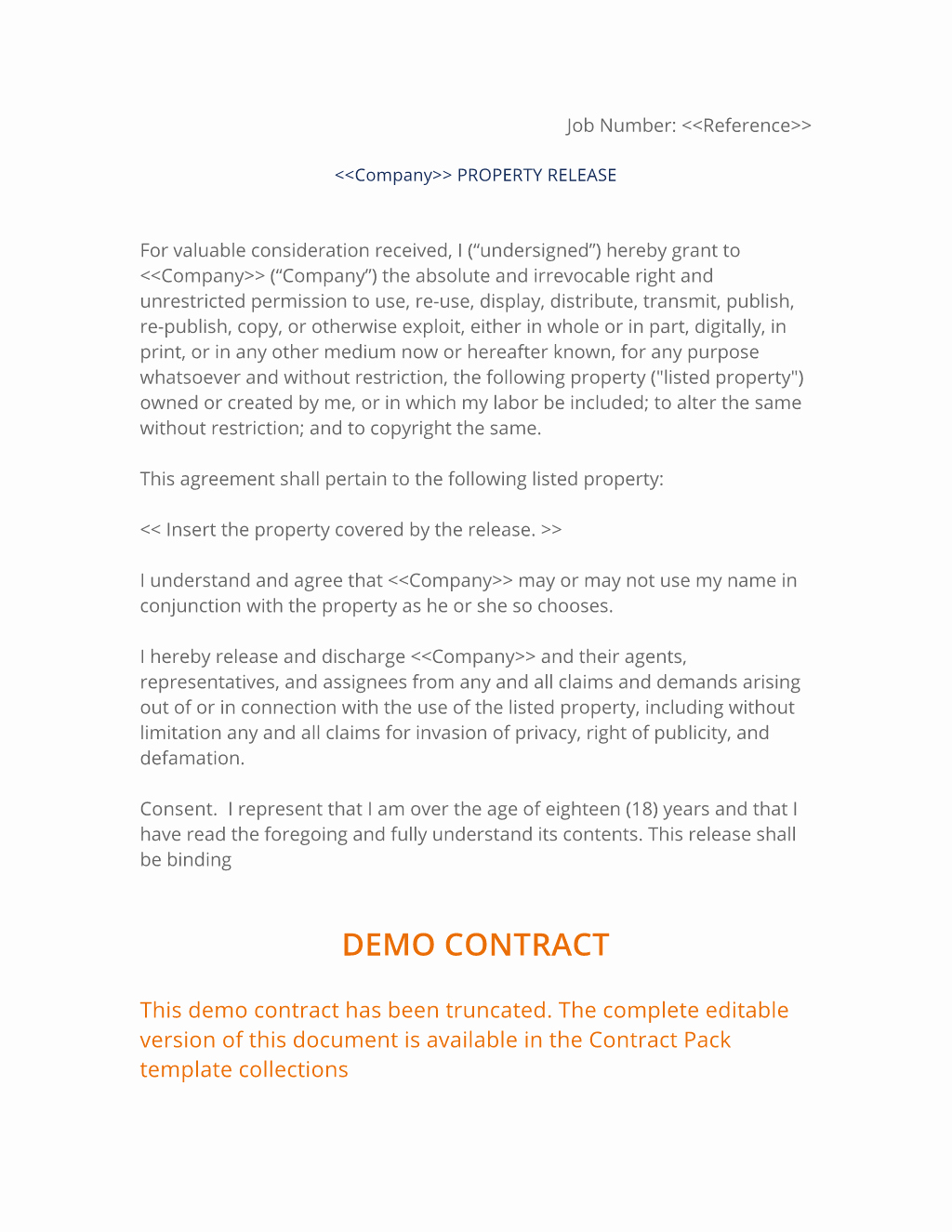 Property Release form Template Inspirational Property Release Agreement with Witness 3 Easy Steps