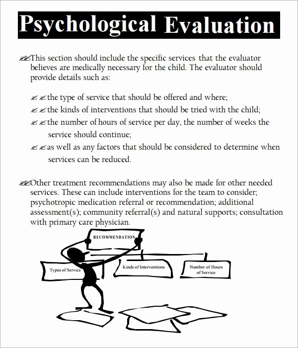 Psychological assessment Report Template Best Of Free 7 Sample Psychological Evaluation Templates In Pdf