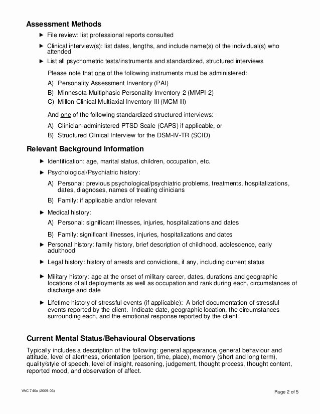Psychological assessment Report Template Luxury Psychological assessment Report