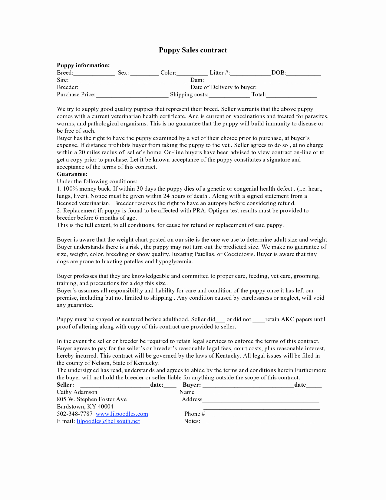 Puppy Sale Contract Template New Puppy Sales Agreement the Modern Rules Puppy Sales