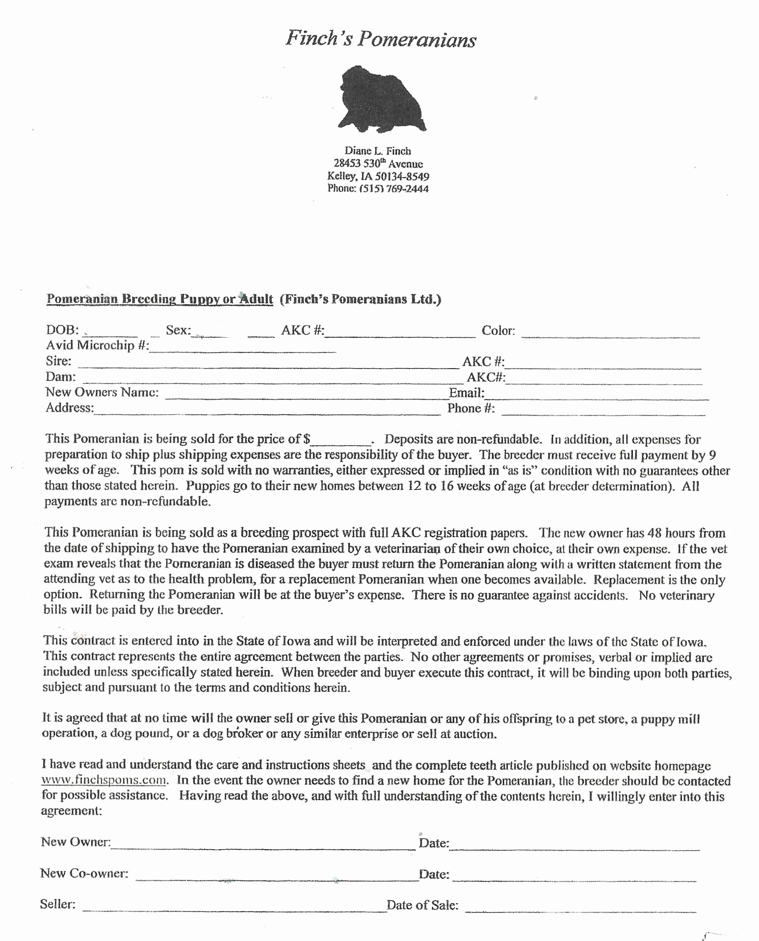 Puppy Sales Contract Template Elegant Dog Breeding Contract Template