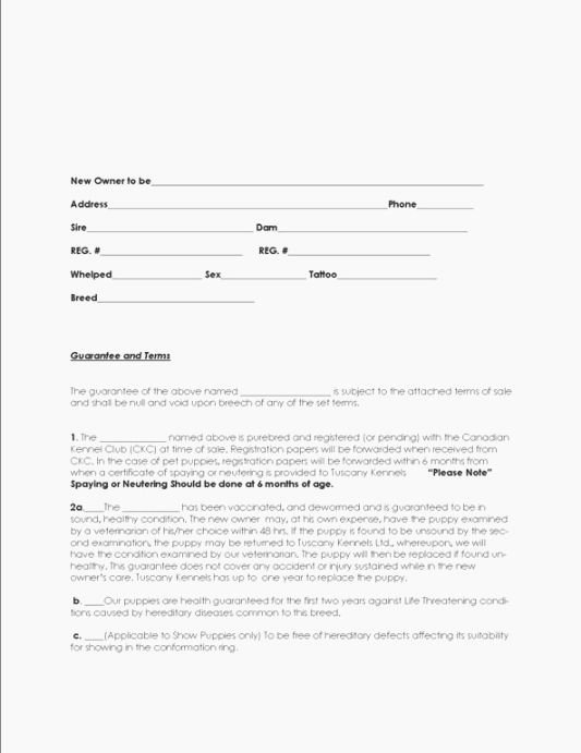 Puppy Sales Contract Template Unique top 44 Candid Free Printable Puppy Sales Contract