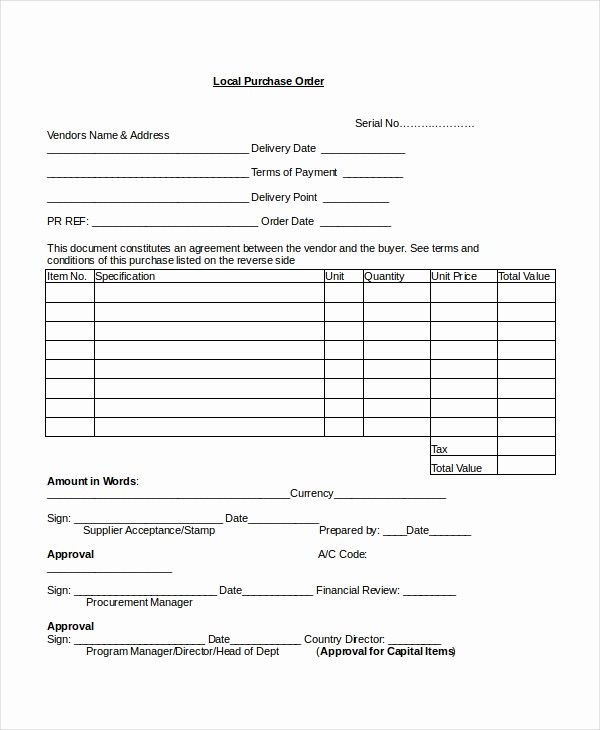 Purchase order Template Pdf Elegant 16 Purchase order Templates Docs Word