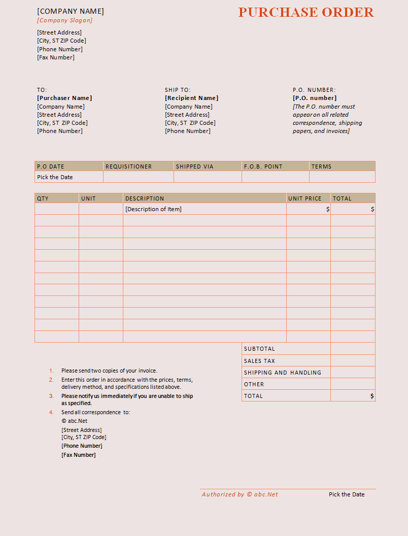 Purchase order Template Pdf Fresh Purchase order Template Pdf format In Word Daily Roabox