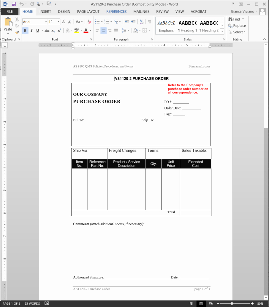 Purchase order Template Word Fresh Purchase order Template Pdf format In Word Daily Roabox