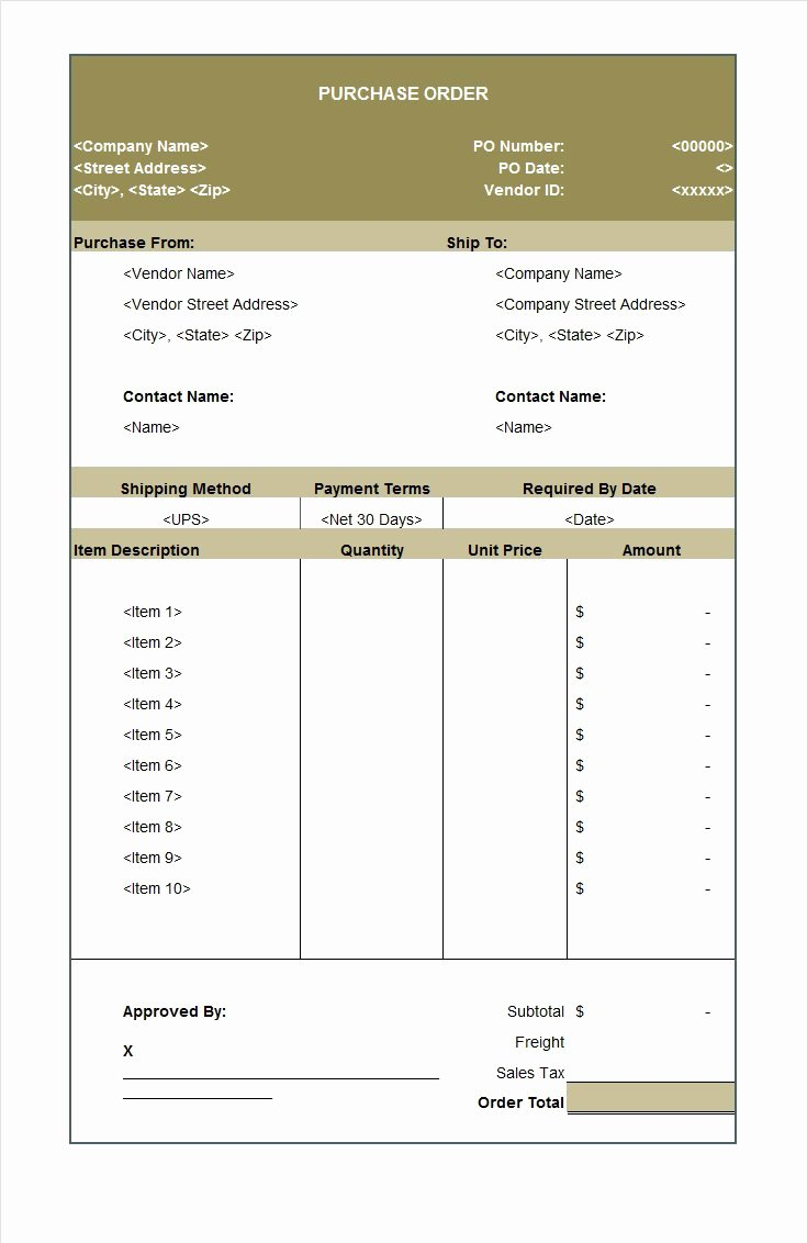 Purchase order Templates Word Unique 39 Free Purchase order Templates In Word & Excel Free