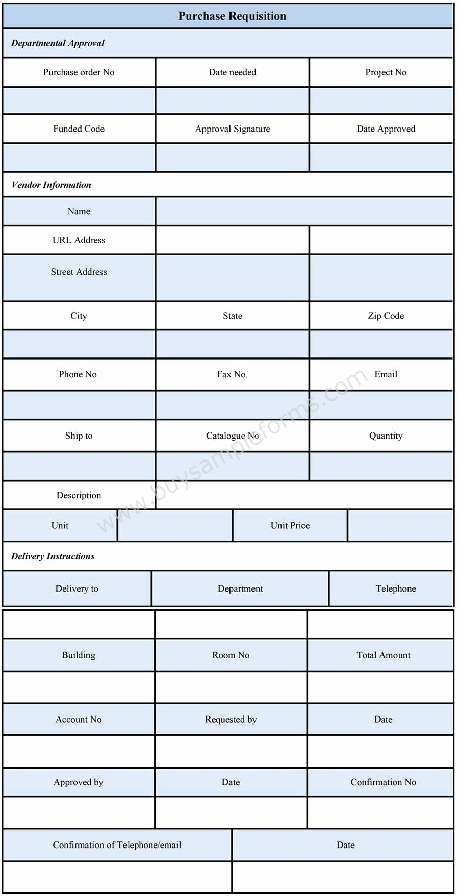 Purchase Requisition form Template Best Of Purchase Requisition form Sample forms
