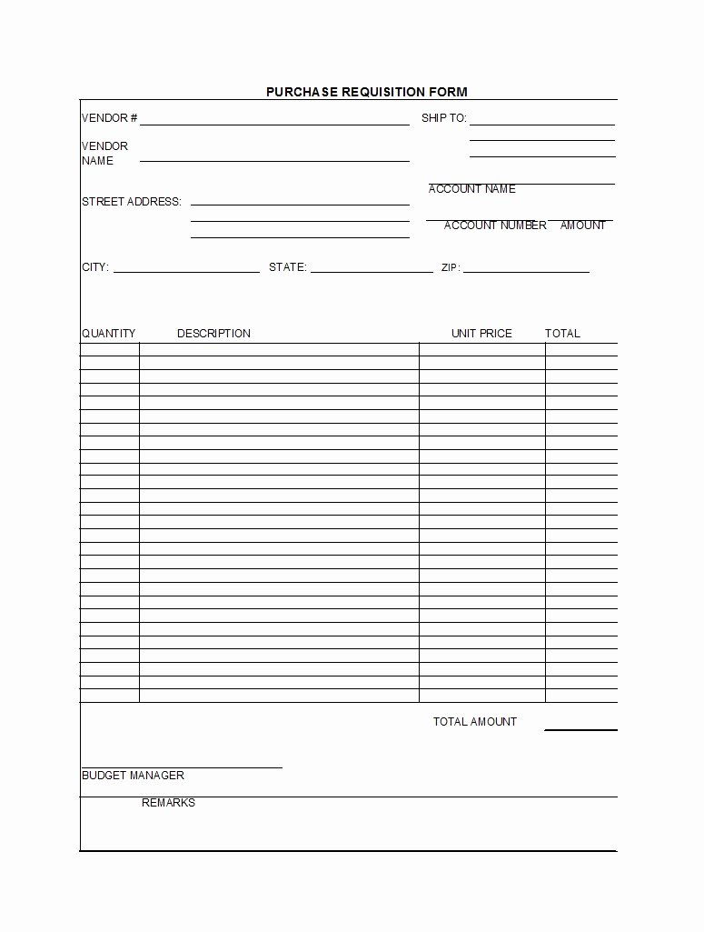 Purchase Requisition form Template Fresh 50 Professional Requisition forms [purchase Materials Lab]
