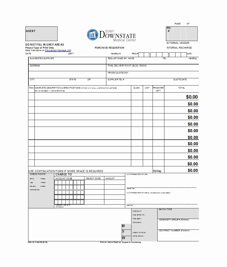 Purchase Requisition form Template Lovely 50 Professional Requisition forms [purchase Materials Lab]
