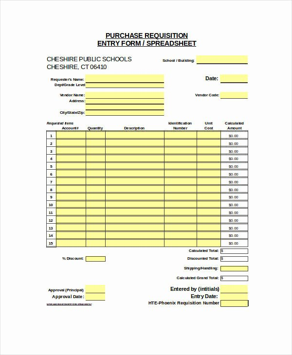 Purchase Requisition form Template Luxury 22 Requisition forms In Excel