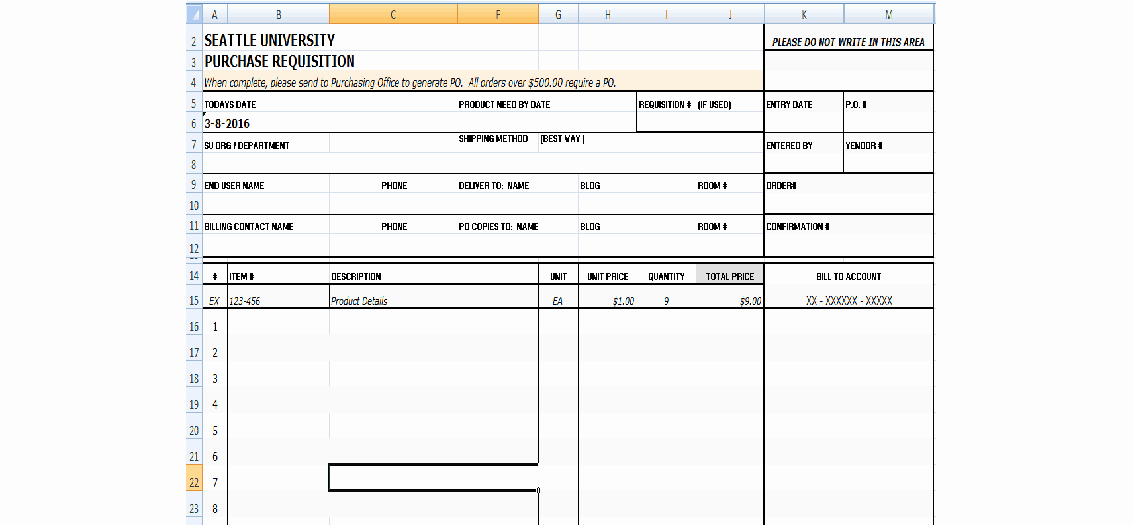 Purchase Requisition form Template New 4 Requisition form Templates Excel Xlts