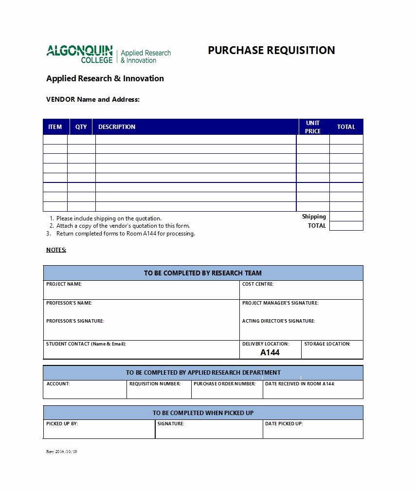 Purchase Requisition form Template New 50 Professional Requisition forms [purchase Materials Lab]