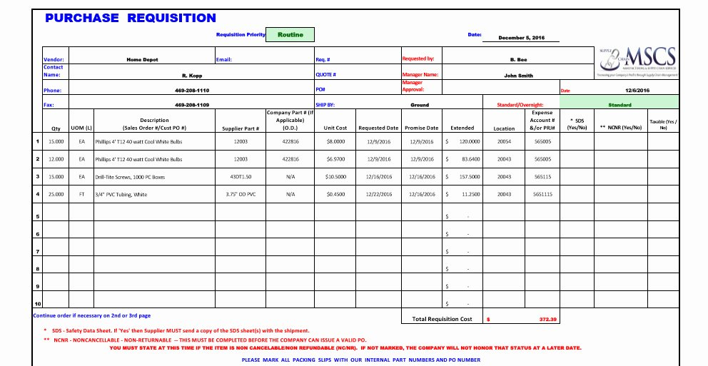 Purchase Requisition form Template New Purchase Requisition Template