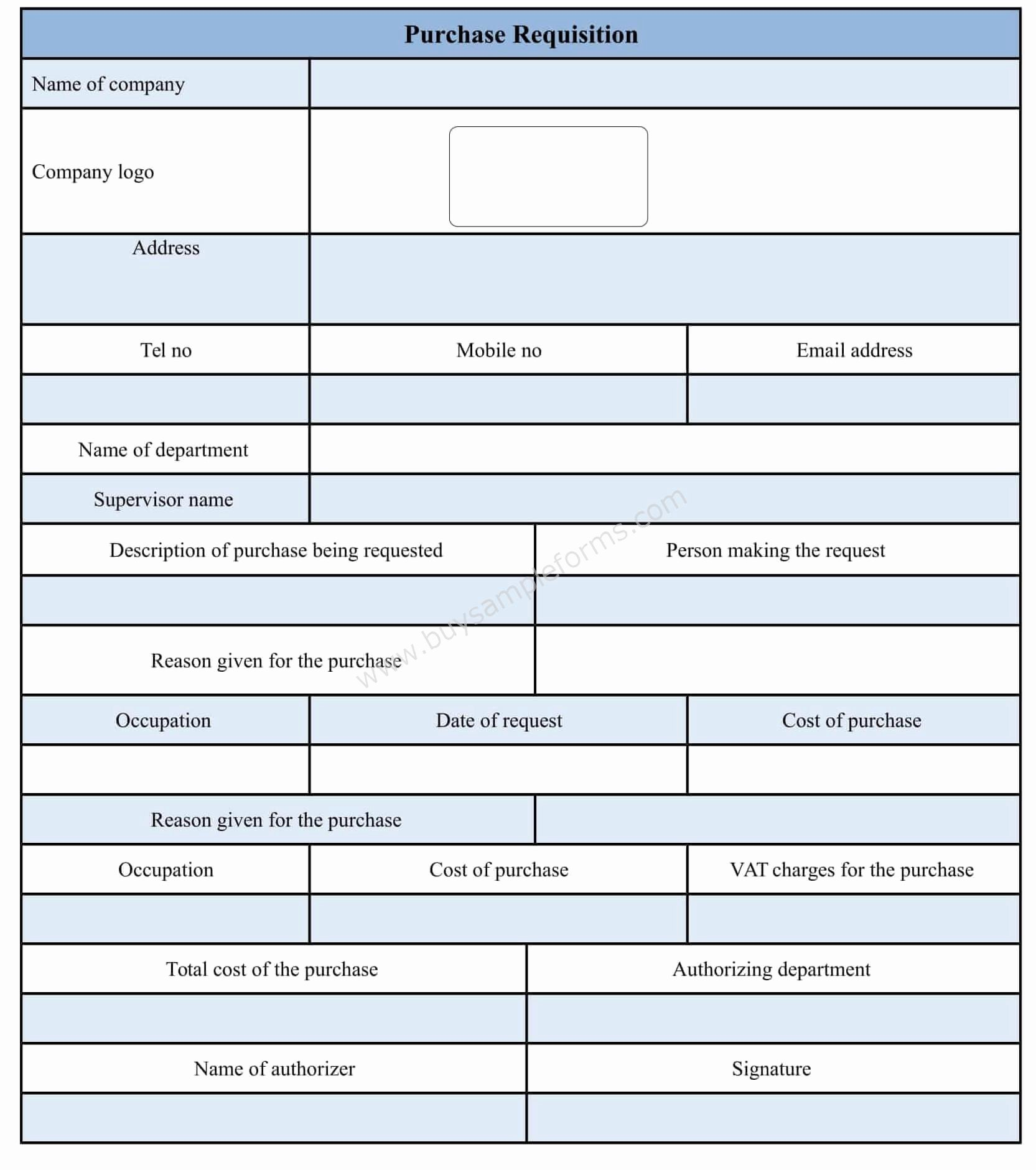 Purchase Requisition form Template Unique Purchase Requisition form Template Doc