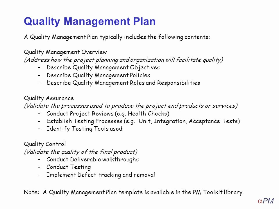 Quality Management Plan Templates Awesome How to Apply Quality Management Ppt Video Online