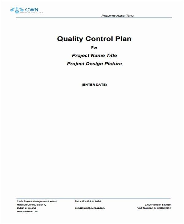 Quality Management Plan Templates Elegant 9 Quality Management Plan Templates Free Pdf Word
