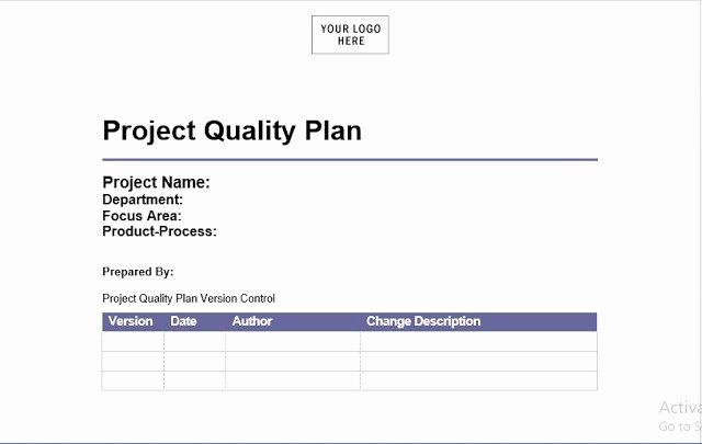 Quality Management Plan Templates Fresh Project Quality Management Plan Template Engineering