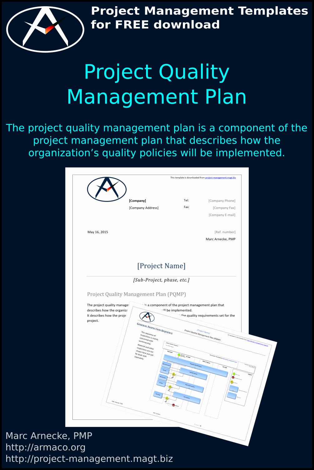 Quality Management Plan Templates Unique Download Free Project Quality Management Plan Template Pmbok