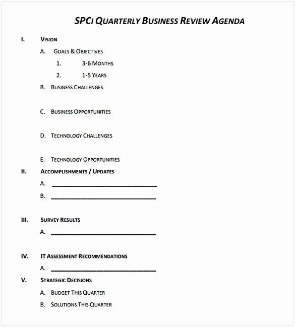 Quarterly Business Review Templates Elegant Business Review Template