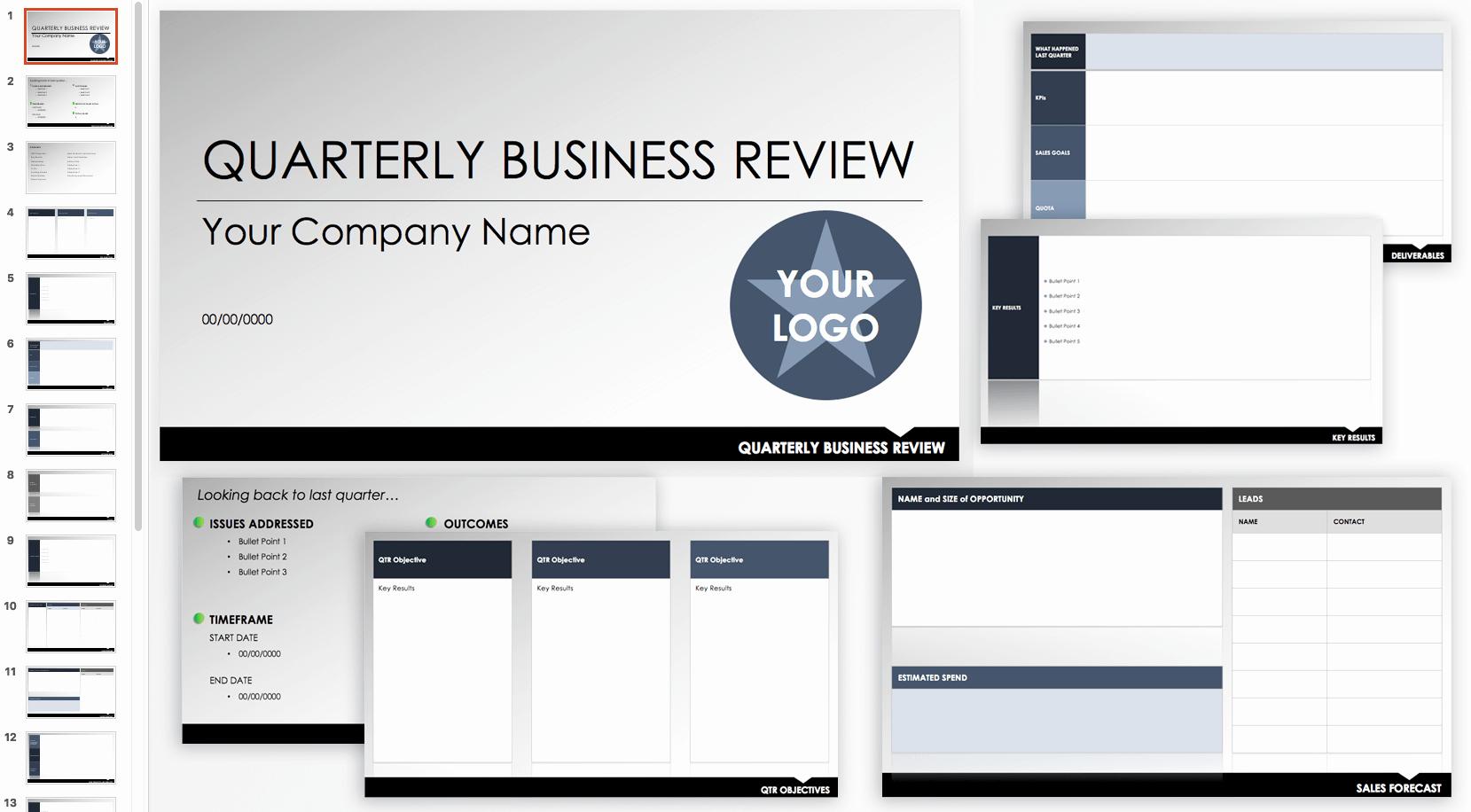 Quarterly Business Review Templates Inspirational Free Qbr and Business Review Templates