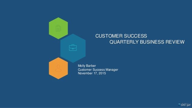 Quarterly Business Review Templates New Customer Success Quarterly Business Review Qbr Template